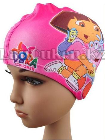 Десткая шапочка чепчик для плавания DORA (Даша) розовая