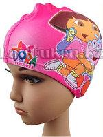 Десткая шапочка чепчик для плавания DORA (Даша) розовая, фото 1