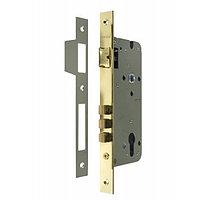 Дверной замок с 3 ригелями без цилиндра Morelli L03 PG (цвет: золото)
