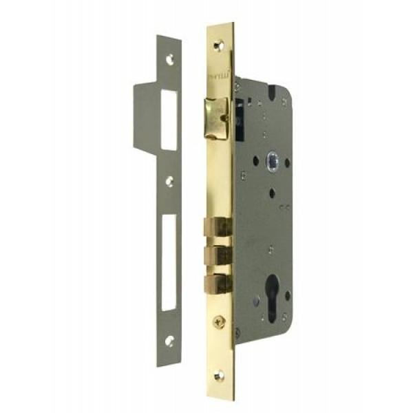 Замок под магнитный цилиндр Morelli L03 PG. Предназначен для открывания и закрывания входных и межкомнатных дверей различного типа.