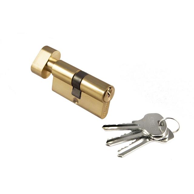 Ключевой цилиндр длиной 60 мм Morelli 60CK PG. Предназначен для открывания и закрывания входных и межкомнатных дверей различного типа.