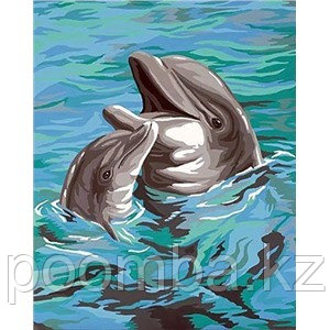 """Картина по номерам """"Дельфины"""" 40*50"""