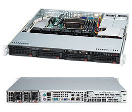Корпус для сервера Supermicro CSE-813MFTQC-R407CB  Rack 1U