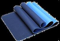 Антибактериальный коврик для йоги, фитнеса ECO-FRIENDLY TPE Yoga Mat, 8 мм, фото 1