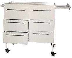 Металлический столик с ящиками передвижной СМИ 004