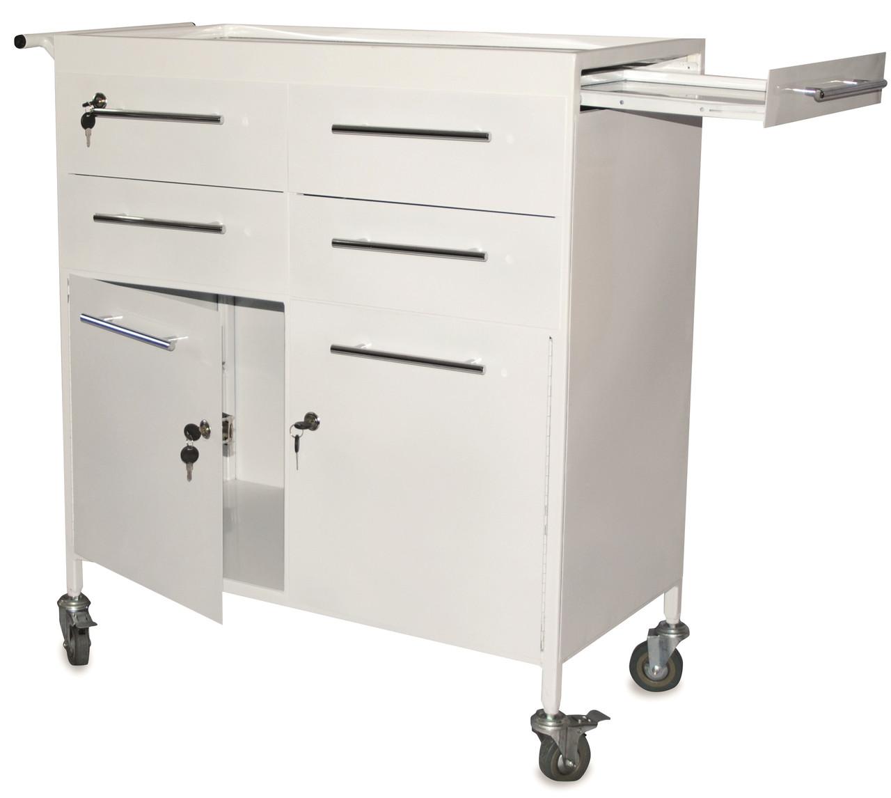 Медицинский стол с ящиками на замке СМИ 018