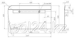 Комплект лопастей для затирочн. маш. GROST - 120х217 мм (4шт.)