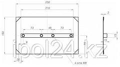 Комплект лопастей для затирочн. маш. GROST – 150x250 мм (4шт)