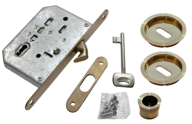 Комплект для раздвижных дверей Morelli MHS-1 L AB