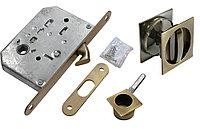 Комплект для раздвижных дверей Morelli MHS-2 WC AB (цвет: бронза)