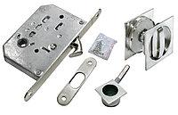 Комплект для раздвижных дверей Morelli MHS-2 WC SC (цвет: матовый хром)