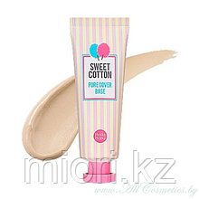 База под макияж с экстрактом хлопка HOLIKA HOLIKA Sweet Cotton Pore Cover Base,25мл