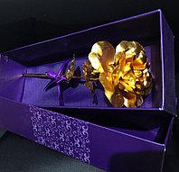 Роза в коробке «Golden rose», фото 1