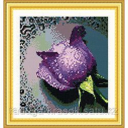 "Картина стразами - ""Фиолетовая роза-2"" 22х24 см"