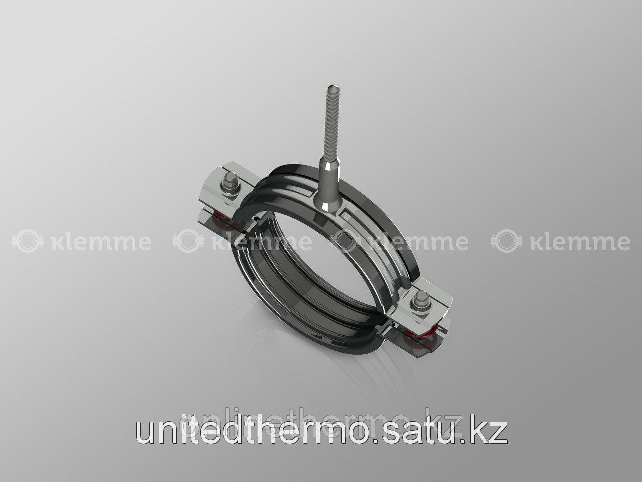 "Хомут 3"" (М10) для труб с резиновым профилем и шурупом 85-92 мм - фото 1"