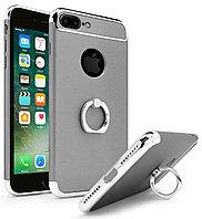 Пластиковый чехол JOYROOM с кольцом для iPhone 7 plus (серебристый)