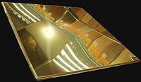 Кассетный потолок алюминиевый цвет золото