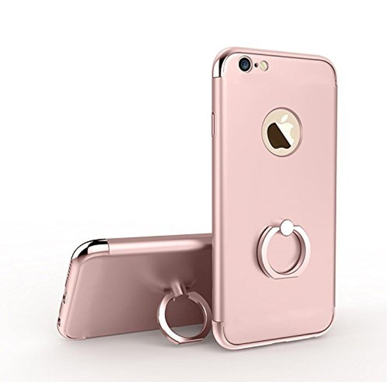 Пластиковый чехол JOYROOM с кольцом для iPhone 7 (Rose Gold)