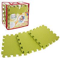 Детский коврик-пазл (мягкий), 9 элементов, толщина 1,8 см, цвет салатовый