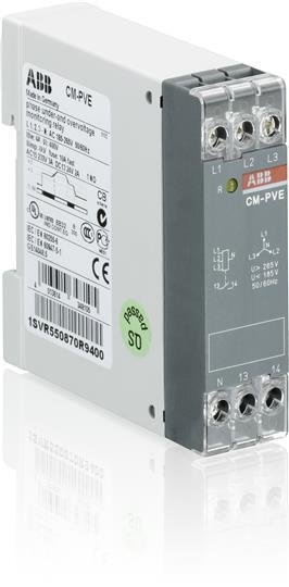 1SVR550870R9400 Реле контроля напряжения ABB  (контроль 1,3 фаз) с нейтралью 185..265В AC