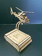 """Визитница """"Вертолет"""" из фанеры"""