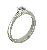 Золотое кольцо с Бриллиантом , фото 1