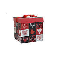"""Подарочная упаковка """"Cердце"""" 10*10 см (маленькая) YXL 5007S-2"""