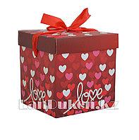 """Подарочная упаковка """"Love"""" 15*15 см (средняя) YXL 5007M-1"""