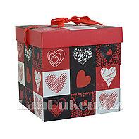 "Подарочная упаковка ""Сердце"" 15*15 см (средняя) YXL 5007M-2"