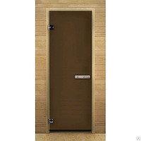Дверь банная термо-стекло (бронза)