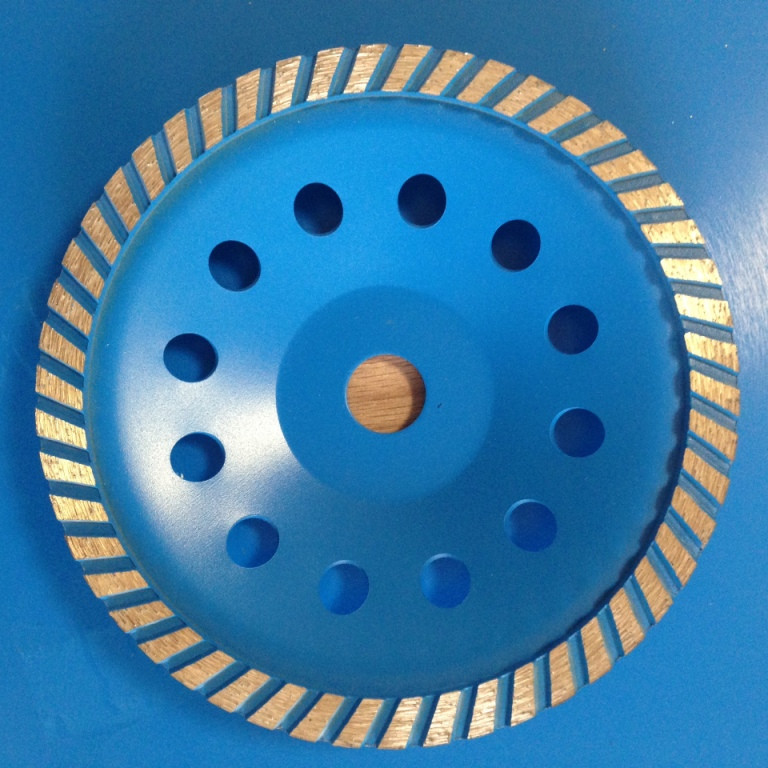 Алмазная шлифовальная чашка 125мм,  Standart, TURBO