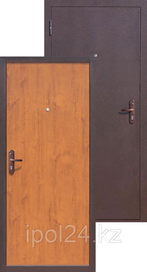 Дверь металлическая Стройгост 5-1 золотистый дуб