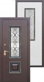 Дверь металлическая 8 см Венеция Беленый дуб