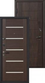 Дверь металлическая Милан ВИНОРИТ венге/венге