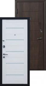 Дверь металлическая Милан ВИНОРИТ венге/эшвайт