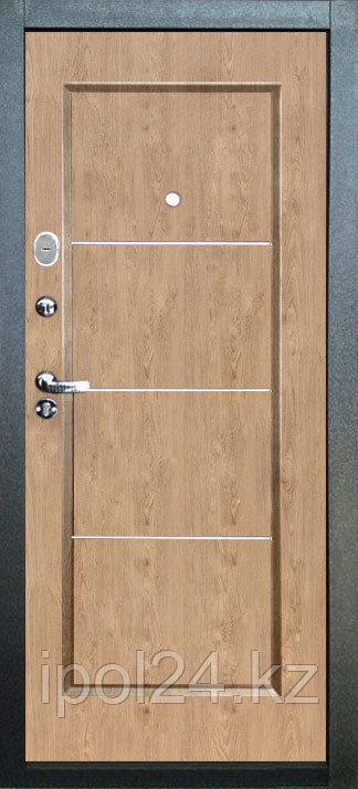 Дверь металлическая Ferrum 8см Светлый орех