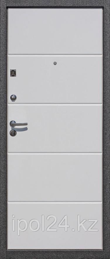 Дверь металлическая Троя Белый глянец 12мм (960L)