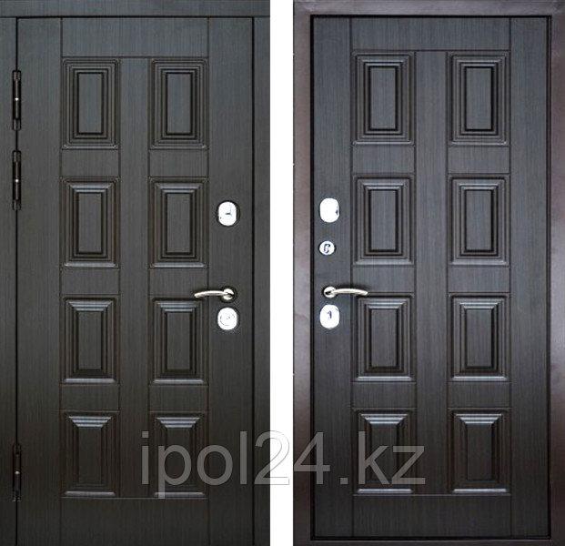 Дверь металлическая KREDO Темный каштан (860R)