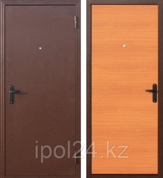 Дверь металлическая СтройГост 7-1 Миланский орех (970мм) правая