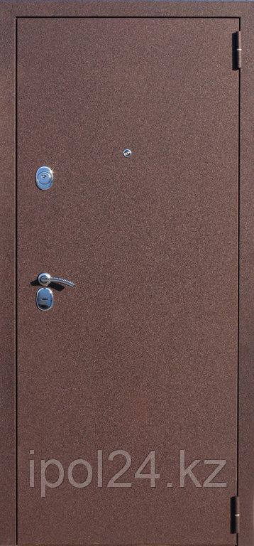 Дверь металлаллическая Троя Аргентум (960мм) правая