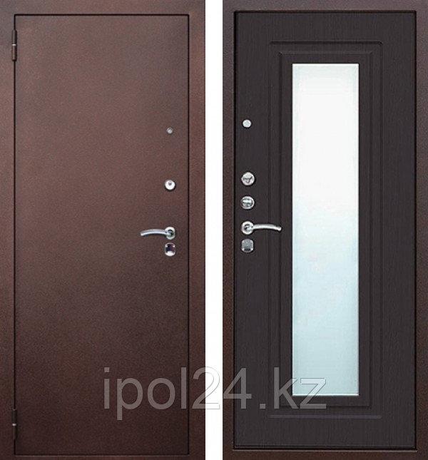 Дверь металлаллическая Царское Зеркало Венге New (960мм) левая