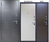 Дверь металлическая Kvadro 10мм Беленый дуб (860мм) левая