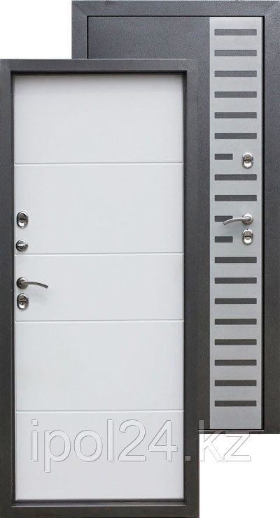 Дверь металлическая ISOTERMA 10 см Беленый дуб (880мм) левая, правая; (950) правая