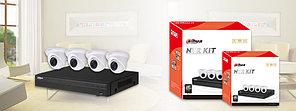 Комплект IP Видеонаблюдения Dahua на 4 камеры 2 Мп
