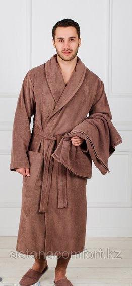 Мужской банный махровый халат. Хлопок. Россия.