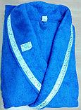Мужской банный махровый халат с лентой. Хлопок. Россия. , фото 2