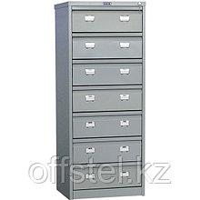 Металлический картотечный шкаф (картотека) ПРАКТИК AFC-07