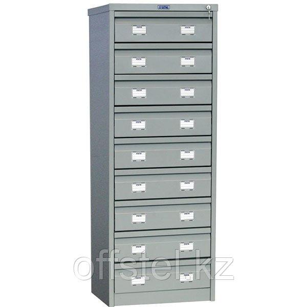 Металлический картотечный шкаф (картотека) ПРАКТИК AFC-09С