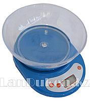 Весы кухонные с чашей (синие)
