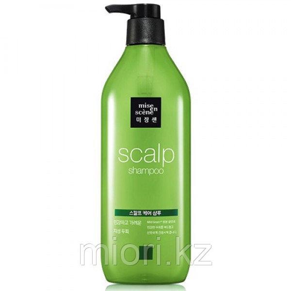 Укрепляющий шампунь Mise-en-Scene Style Green Refresh Scalp Shampoo,680мл